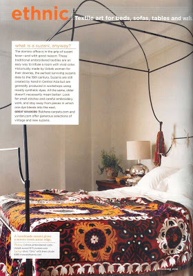 Suzani embroidery bedroom blanket design via belle vivir blog