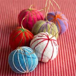 Eco friendly ornaments, viva terra ornaments