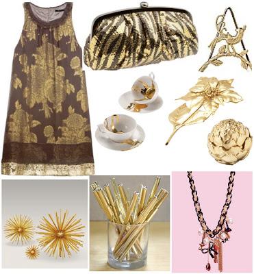 gold, glitter, kelly wearstler