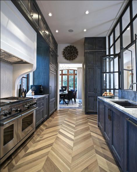 Chevron floors in home decor kitchen