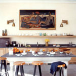 Kitchen of the week, think art and sconces in a tropical setting