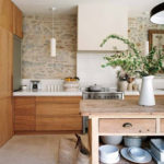 Kitchen of the week, think whitewash wood and stone walls