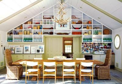Amagansett Modern dining room Design via Belle Vivir Blog