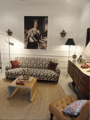 Raji Radhakrishanan design hampton show house living room