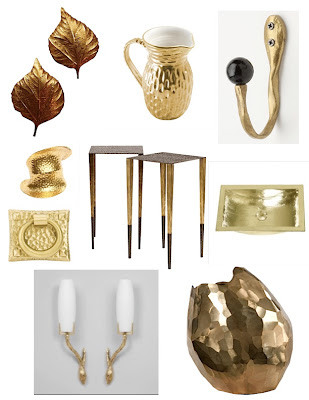 home decor with hammered brass accessories round up