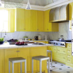 Kitchen of the week: Yellow Cabinet Kitchen + Coffered Ceiling