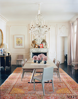 L'Wren Scott's Paris Apartment dining room