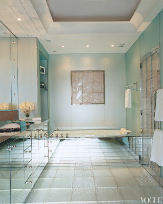 L'Wren Scott's Paris Home mirrored bathroom