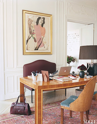 L'Wren Scott's Paris Apartment office via belle vivir blog
