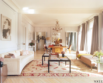 L'Wren Scott's Paris Apartment living room via belle vivir