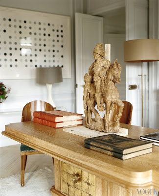 L'Wren Scott's Paris Apartment office via belle vivir