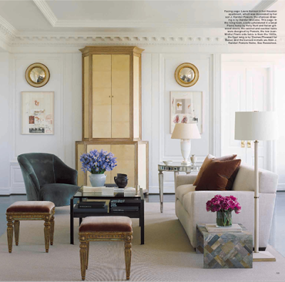 J. Randall Powers living room design belle vivir