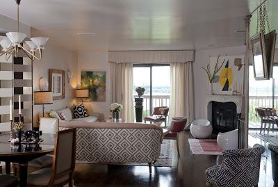 our home after- julie paulino design david hicks fabric sofa