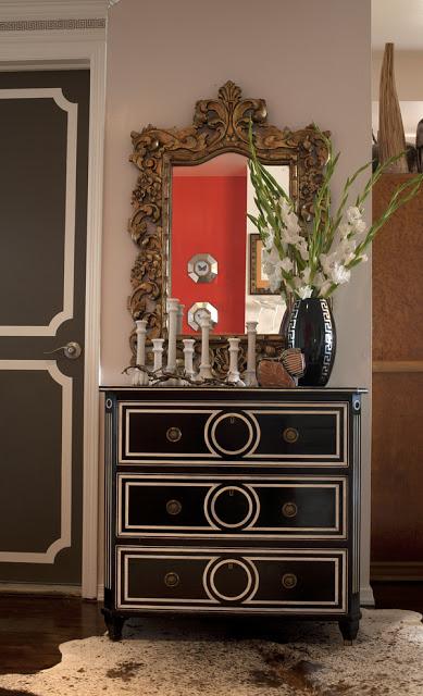 our home after- julie paulino design dorothy draper dresser