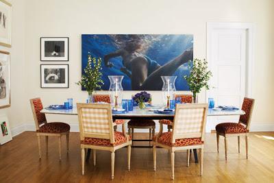Patricia Herrera Lansing dining room of New York city apartment via belle vivir blog