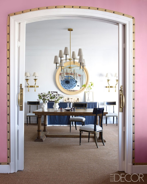 studded nailhead upholstered walls in home decor