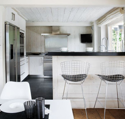 A Monochromatic Cabin in Megeve, kitchen