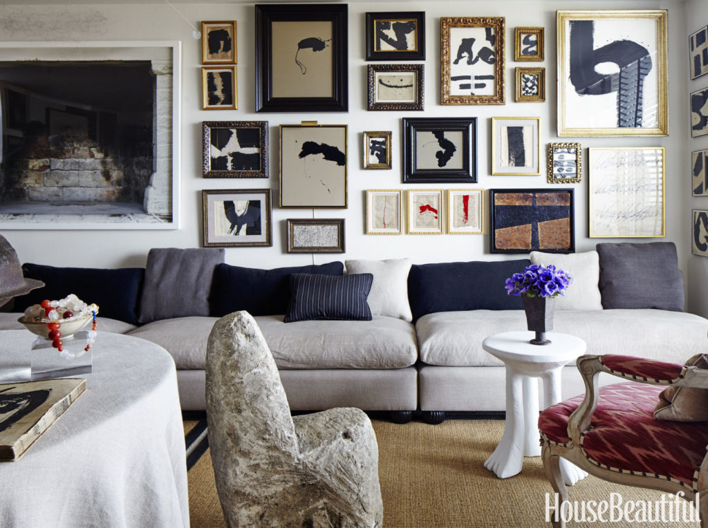 How to create the best gallery walls, john-mayberry-san-francisco-apartment-belle-vivir