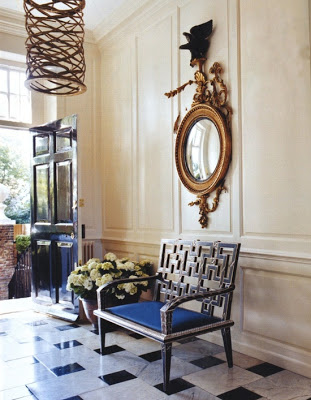 Marie Chantal Miller home entryway in London