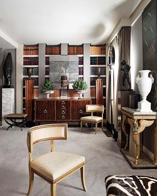 Ramon Garcia Jurado, library with klismos char via belle vivir blog