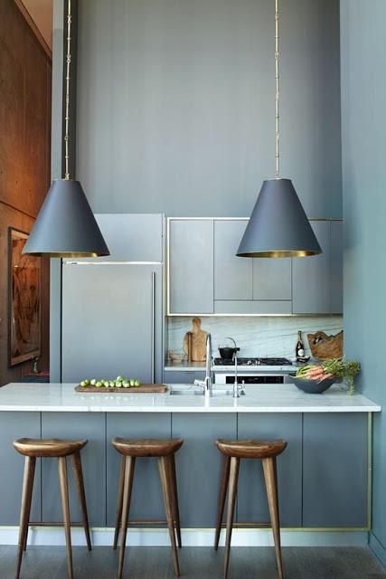 grey blue kitchen ideas via belle vivir blog