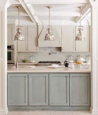 kitchen ideas with light color cabinets via belle vivir blog