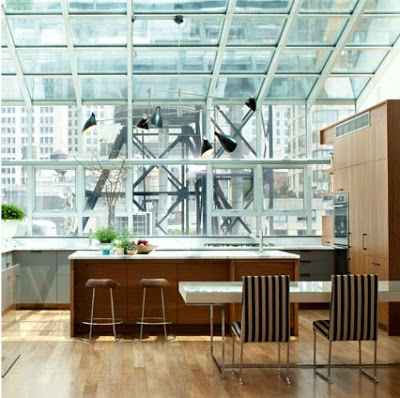A modern home in new york city by plattdana architects - Amazing floor to ceiling windows design ...