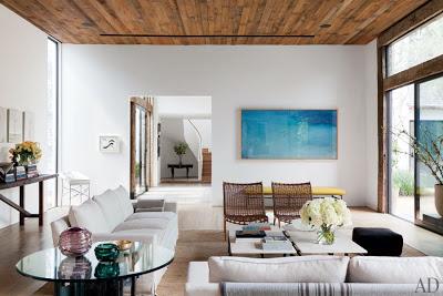 Jenni Kayne living room in California  via belle vivir