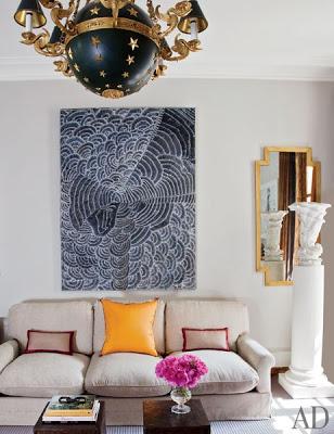tino zervudachi's paris home living room