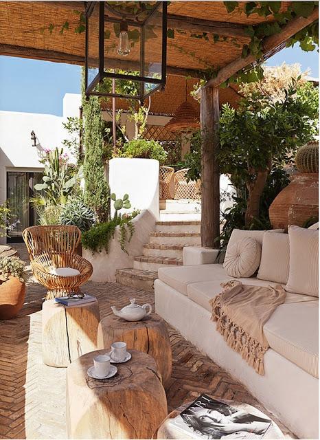 Jean Louis Deniot Design in capri garden via belle vivir blog