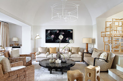 Jean Louis Deniot Design in capri living room via belle vivir blog