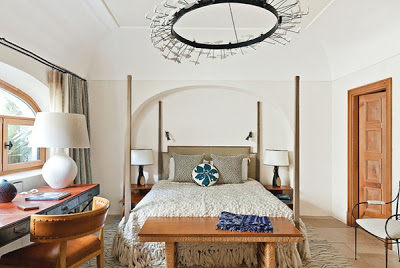 Jean Louis Deniot Design bedroom in Capri via belle vivir blog
