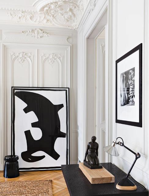 black in interiors gilles and boissier paris apartment