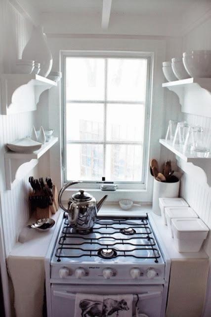 kitchenette design via belle vivir blog