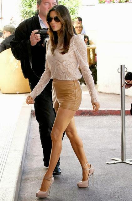 Leather Shorts via belle vivir blog