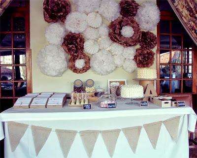 birthday party ideas for kids via belle vivir flower tissue balls