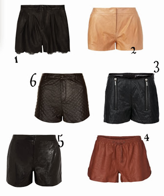 Leather Shorts roundup via belle vivir blog