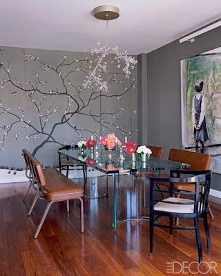 jib door covered with chinoiserie wallpaper via belle vivir blog