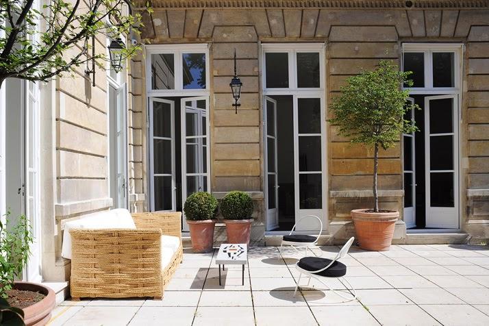 A Paris apartment designed by Joseph Dirand patio