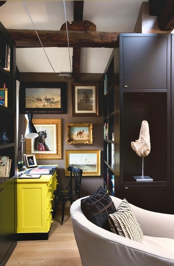Black wall painted rooms, black walls in home decor ideas