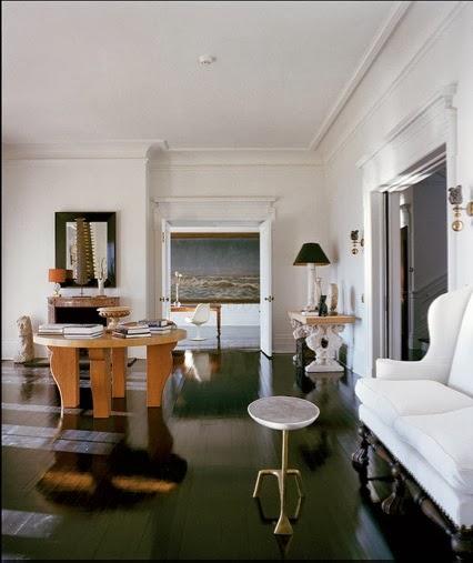 Michael Bruno at Home living room Tuxedo Park via Belle vivir blog