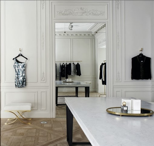 Balmain Paris Store designed by Joseph Dirand via belle vivir