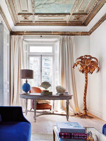 decorating with metal/gilt palm trees
