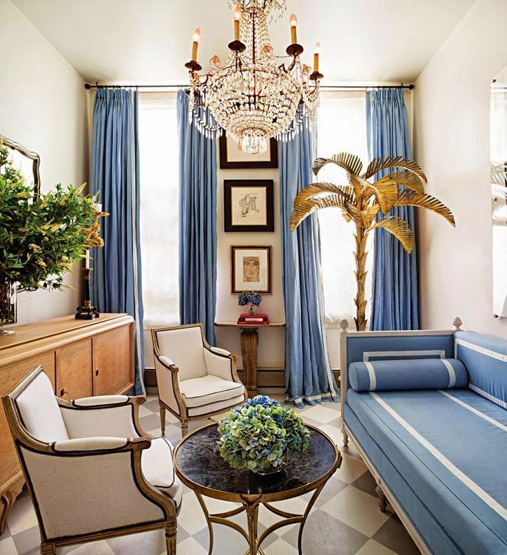 decorating with metal/gilt palm trees by julie paulino design
