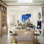 Kelly Wearstler Beautiful Library with Greek Key Molding