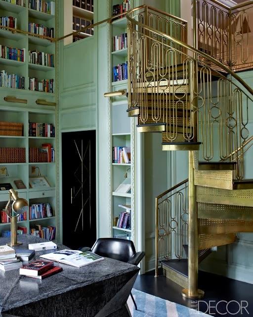 functional and beautiful kelly wearstler home library via belle vivir blog