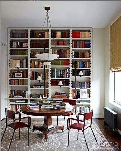 functional and beautiful home library Elle Decor via belle vivir blog