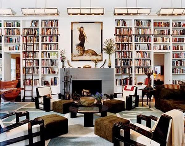 functional and beautiful diane von fursteinberg home library via belle vivir blog