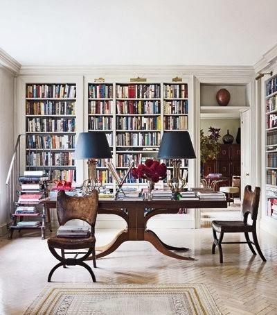functional and beautiful home library via belle vivir blog