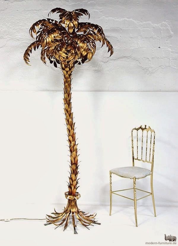 Metal Gold Leaf Palmtree Floor Lamp Via Moder Furniture